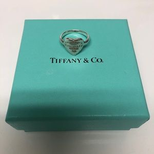 """Tiffany and Co. Sterling """"Return to Tiffany"""" ring"""